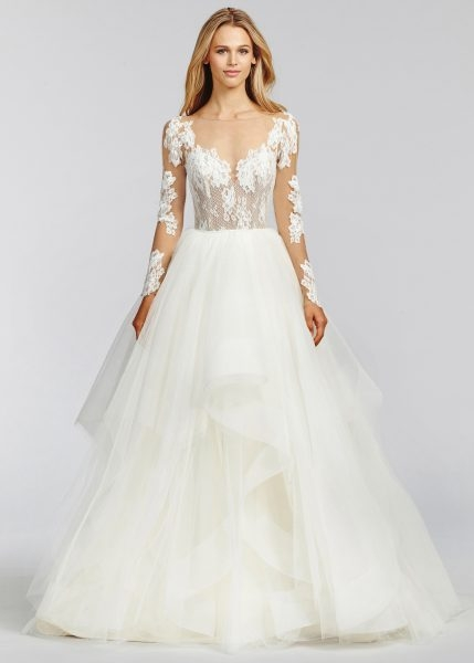 trendy a line wedding dress Hayley Paige Wedding Dress