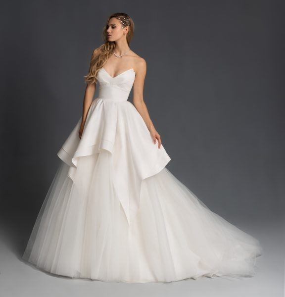 tulle strapless tiered ball gown wedding dress Wedding Dresses Kleinfeld