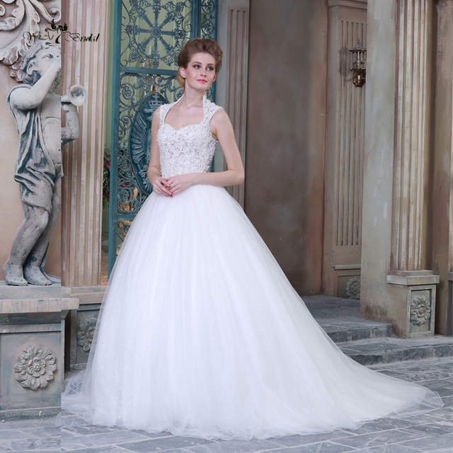 us 3560 hsw5 wedding gowns ball gown wedding dress queen anne neckline see through corset in wedding dresses from weddings events on aliexpress Queen Anne Neckline Wedding Dress