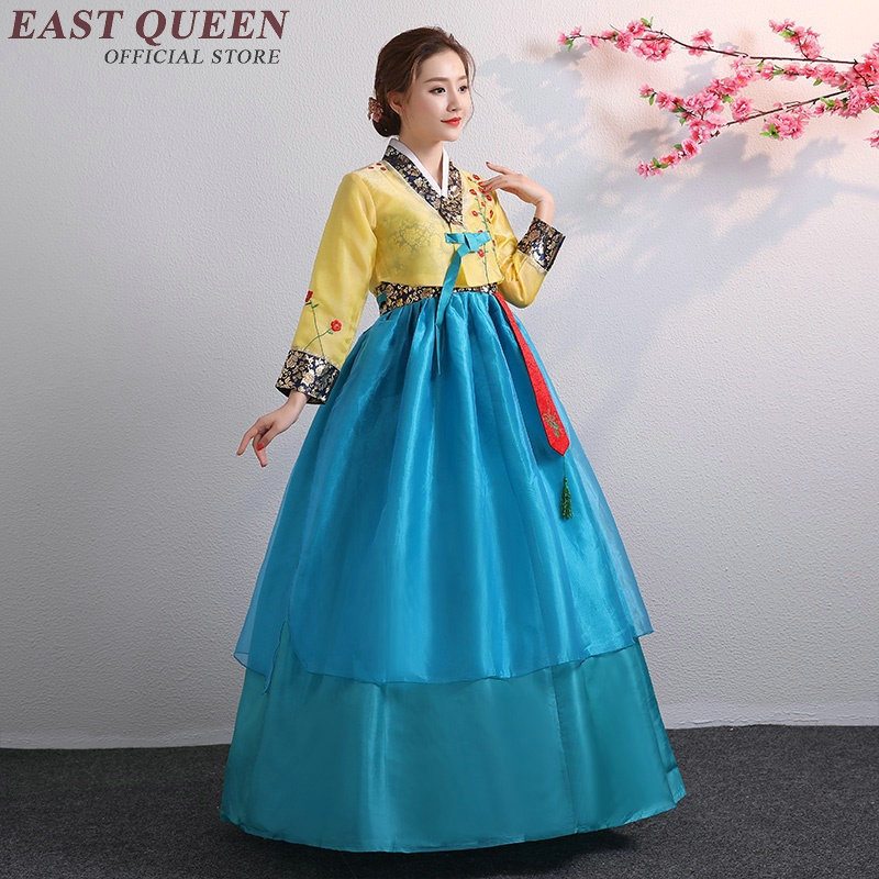 us 486 46 offhanbok korean national costume korean traditional dress cosplay korean hanbok wedding dress performance clothing hanbok kk2341 in Hanbok Wedding Dress