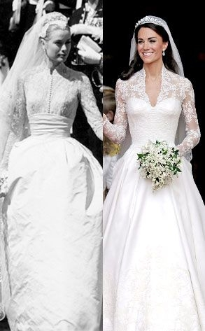 was kate middletons dress inspired grace kelly kate Grace Kellys Wedding Dress
