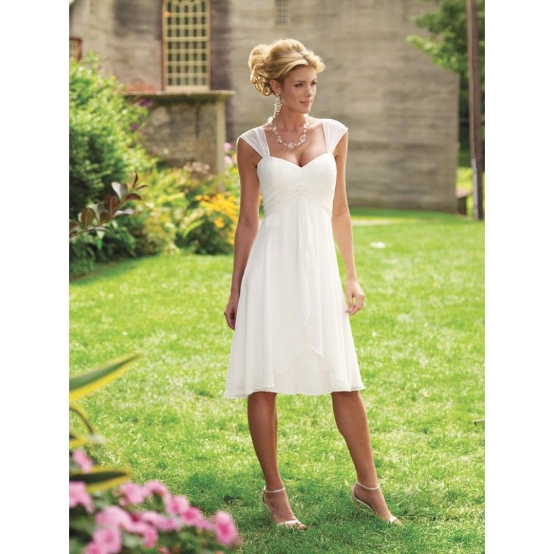 wedding dresses for second marriages cap sleeves Dresses For Second Wedding Informal