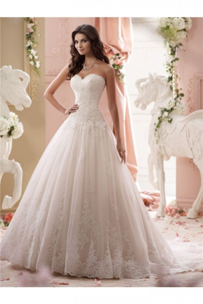 wedding gowns drop waist tulle drop waist wedding dress Drop Waist Tulle Wedding Dress