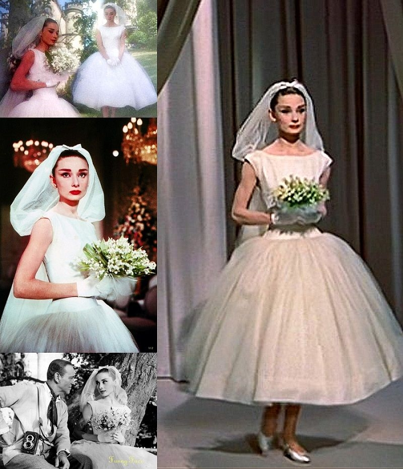 wedding scene funny face 1957 the eternal classic beauty Audrey Hepburn Funny Face Wedding Dress
