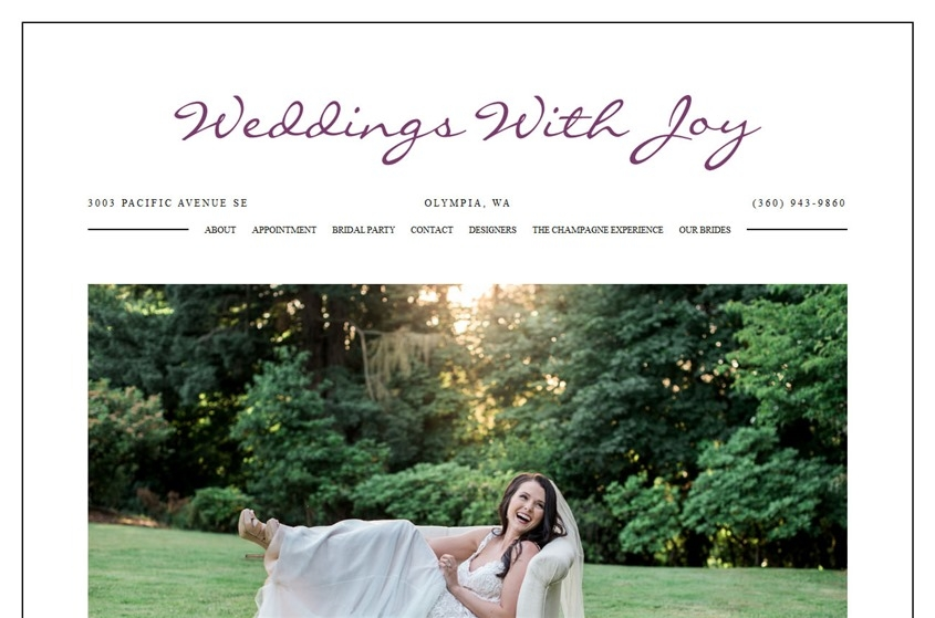 weddings with joy olympia wedding dresses and accessories Wedding Dresses Olympia Wa