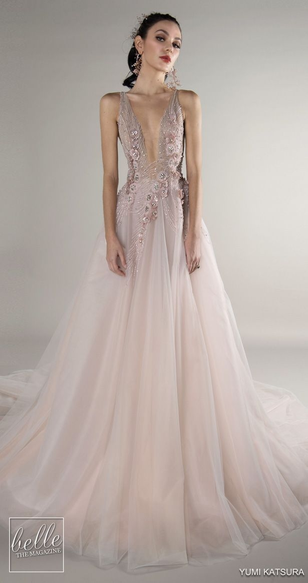yumi katsura wedding dresses fall 2019 pink wedding gowns Yumi Katsura Wedding Dress