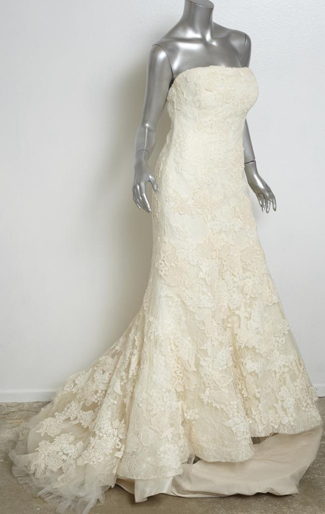 details about vera wang luxe ivory hilary lace strapless mermaid wedding gown dressveil 6 Vera Wang Wedding Dresses Ebay
