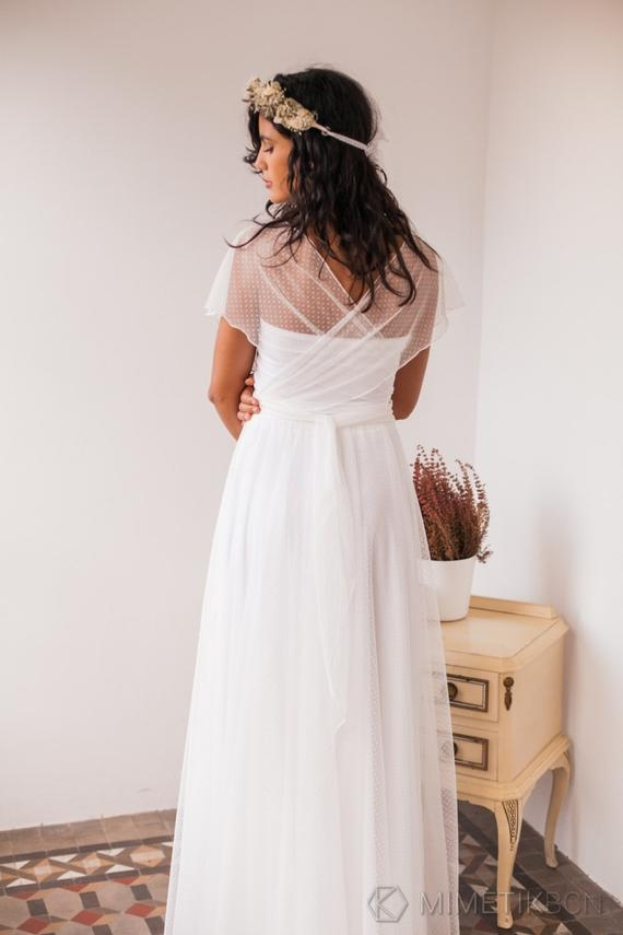 dotted swiss tulle wedding dress dotted swiss tulle wedding dress white dotted swiss dress soft dotted swiss wedding gown swiss dot gown Dotted Swiss Wedding Dress