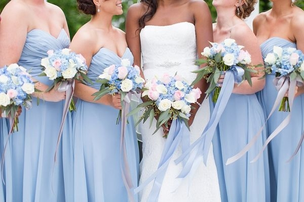 romantic periwinkle and gold wedding periwinkle wedding Periwinkle Wedding Dresses