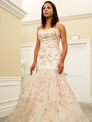 say yes to the dress lazaro pink gown its way early but Lazaro Pink Wedding Dress