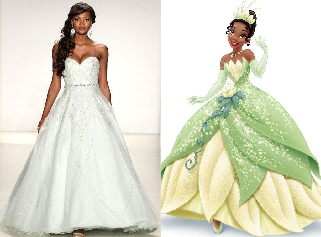 tiana from alfred angelos disney princess wedding gowns Princess Tiana Wedding Dress