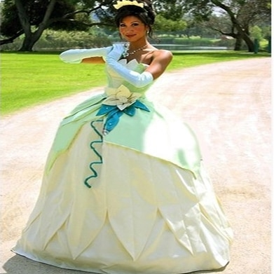 us 850 new custom made fantasia halloween women wedding party cosplay princess tiana dress adult princess tiana costume in movie tv costumes from Princess Tiana Wedding Dress