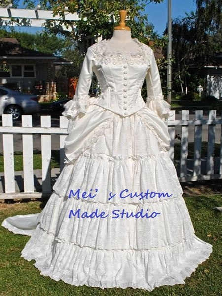 custom made 18th century victorian bustle christines wedding gown from phantom of the operaholiday dressball gown Phantom Of The Opera Wedding Dress