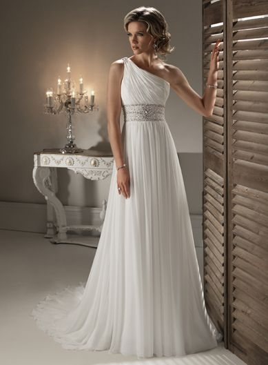 maggie sottero couture bridal gown and wedding dress Grecian Goddess Wedding Dress