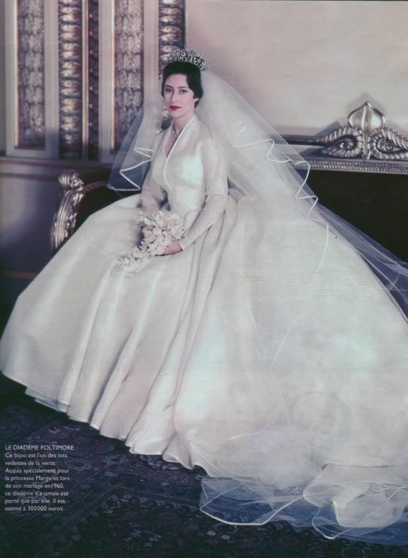 arrayed in gold princess margaret wedding gown princess Princess Margaret Wedding Dress