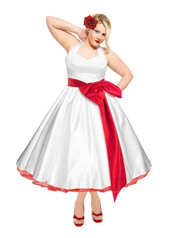 hpb plus size imagine this in peacock colored trims Plus Size Rockabilly Wedding Dresses