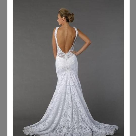 pnina tornai off white lace 4391 silhouette chapel feminine wedding dress size 4 s 39 off retail Panina Wedding Dress