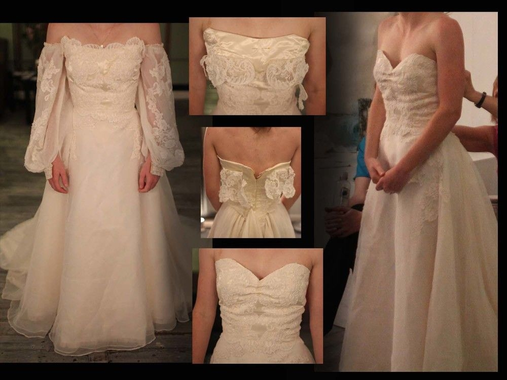 redesign of a vintage priscilla of boston gown you can wear Wedding Dress Alterations Boston