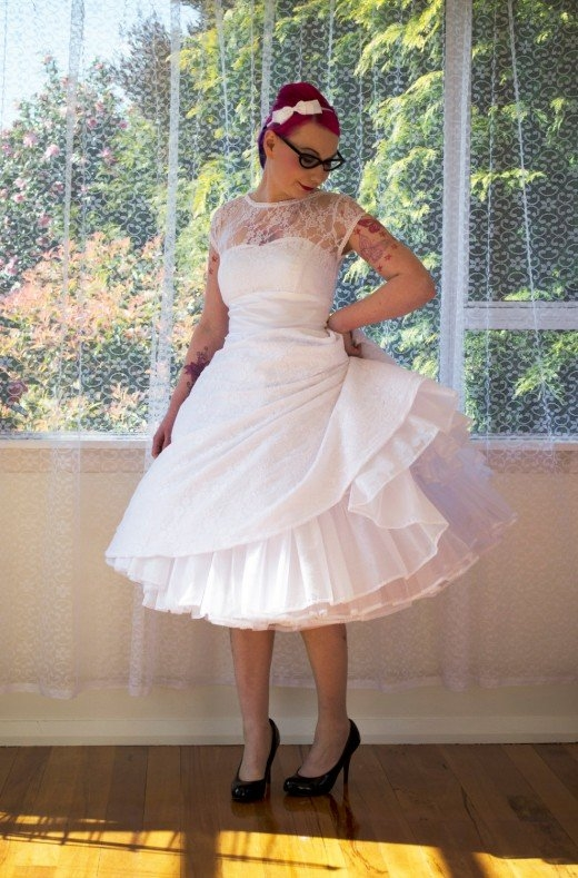 rock the frock with 50s style wedding dresses hubpages Plus Size Rockabilly Wedding Dresses