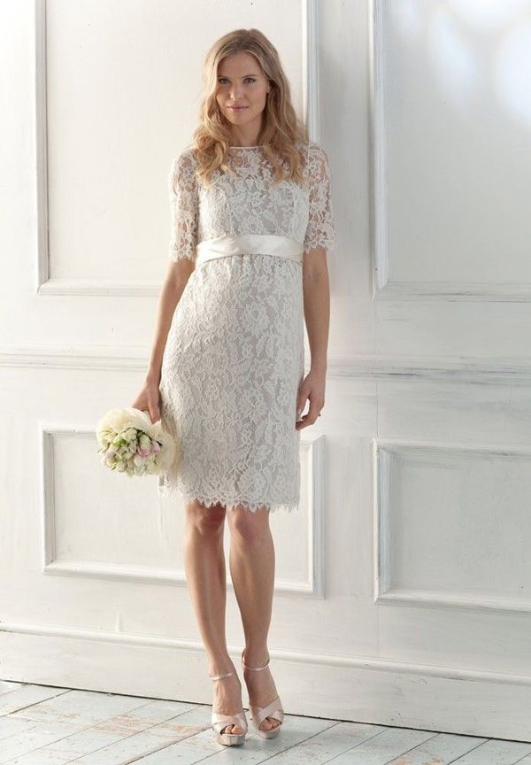 short sleeve wedding dresses short maternity wedding Justice Of The Peace Wedding Dresses