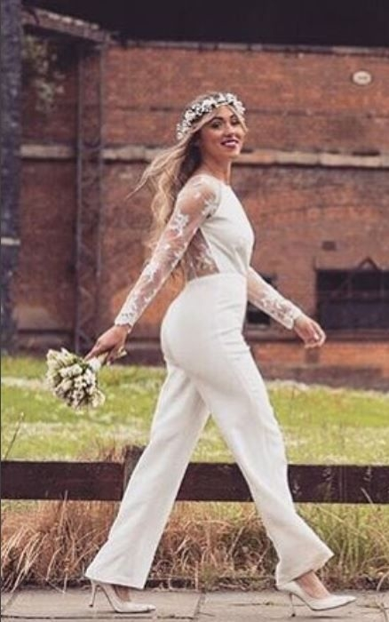 the beautiful linford bridal jumpsuit is perfect for Tomboy Wedding Dresses