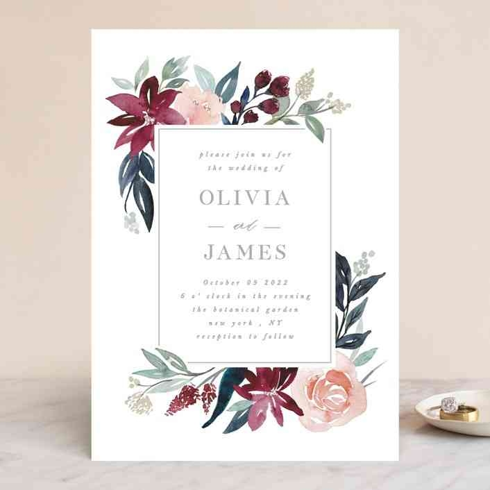 10 popular types of wedding invitation paper and printing Wedding Invitation Prints
