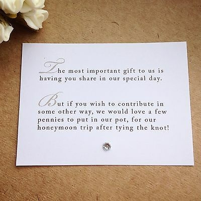 100 x wedding poem cards for invitations money cash gift honeymoon ebay Wedding Invitation Poems
