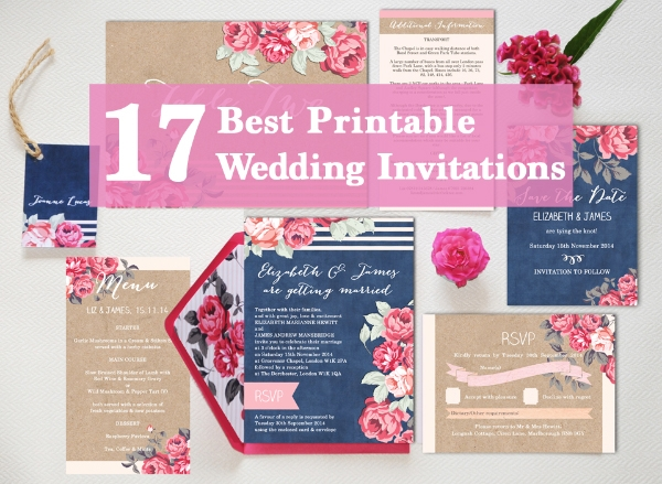 17 of the best printable wedding invitations ever Where To Print Your Own Wedding Invitations