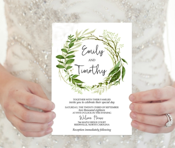 20 elegant wedding invitation templates word psd ai Wedding Invitation Templets