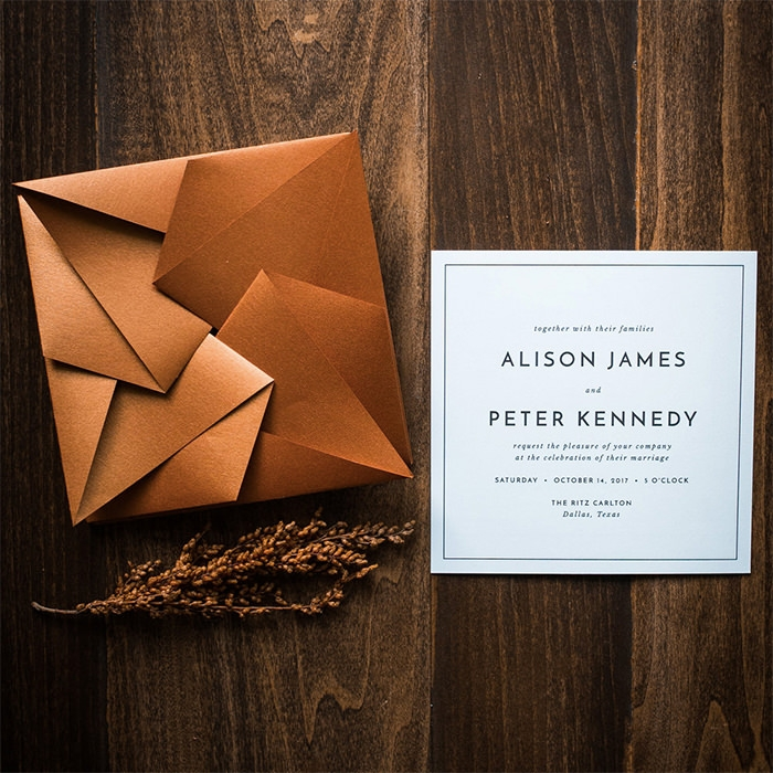 20 event invitation designs to impress your guests Origami Wedding Invitations