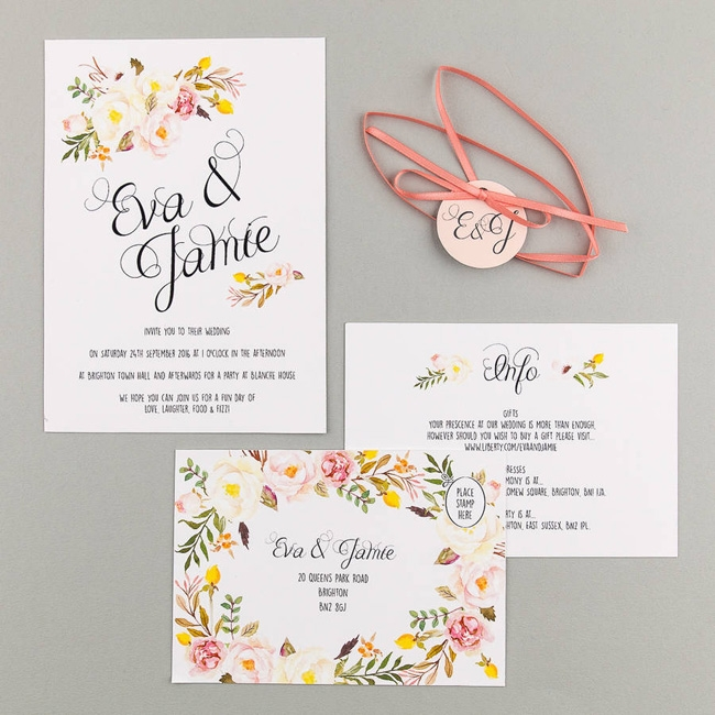 20 of the loveliest illustrated wedding invitations from uk Uk Wedding Invites