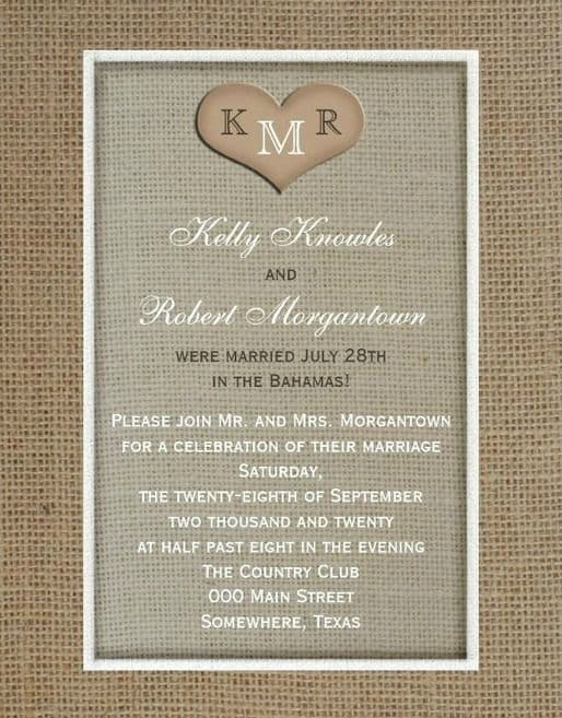 21 beautiful at home wedding reception invitations Invitation For Reception After The Wedding