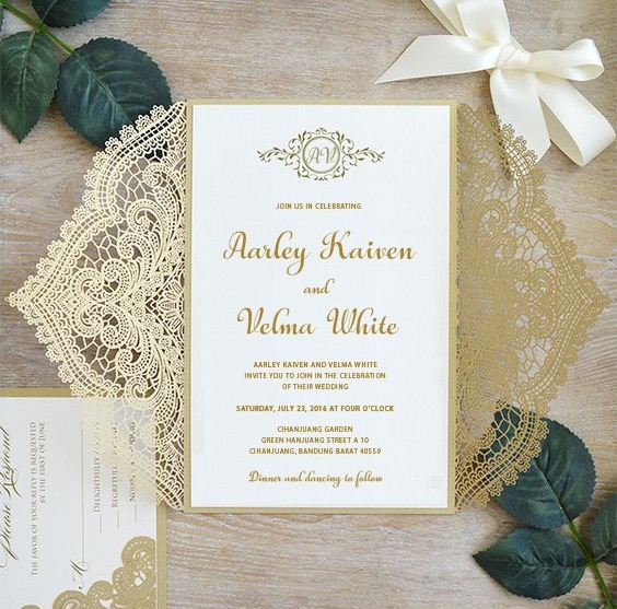 2pcs wedding invitations sample cards template rustic Sample Wedding Invitation Cards