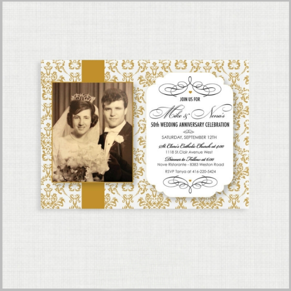 32 50th wedding anniversary invitation designs templates 50th Golden Wedding Anniversary Invitations