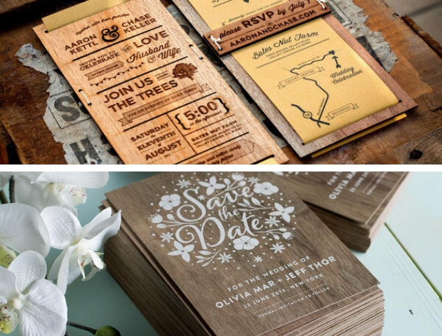 7 eco friendly wedding invitations for all the nature lovers Environmentally Friendly Wedding Invitations
