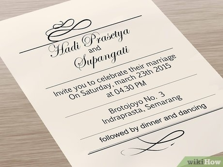 7 ways to print your own wedding invitations wikihow Wedding Invites Printing
