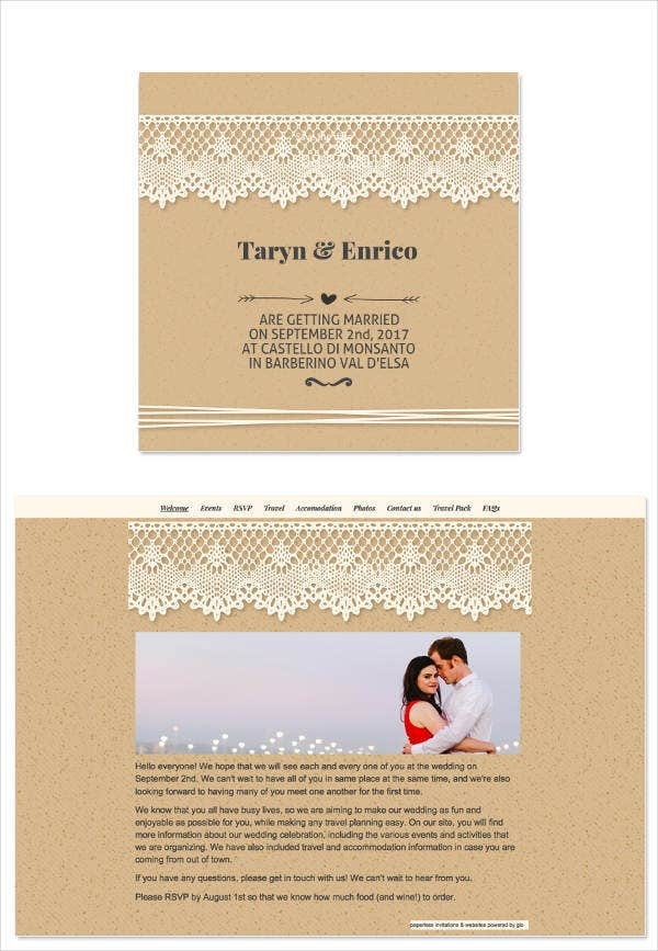 8 wedding e mail invitation templates psd ai word E Invitation For Wedding