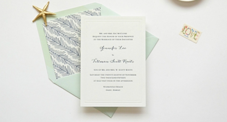 9 letterpress wedding invitation designs templates psd Best Letterpress Wedding Invitations