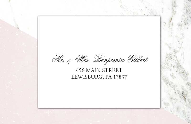 addressing wedding invitations raspberry creative llc How To Address A Wedding Invitation