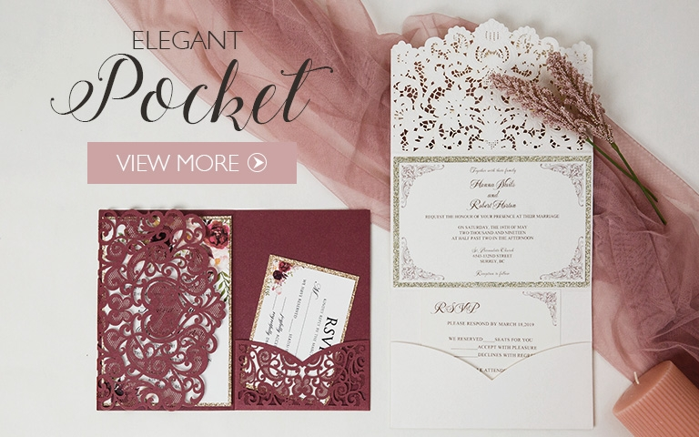 affordable wedding invitations with response cards at Affordable Wedding Invitation