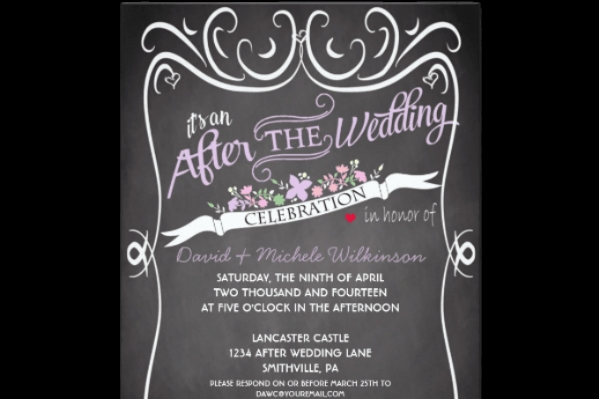 at home reception invitation etiquette destination wedding Invitation For Reception After The Wedding