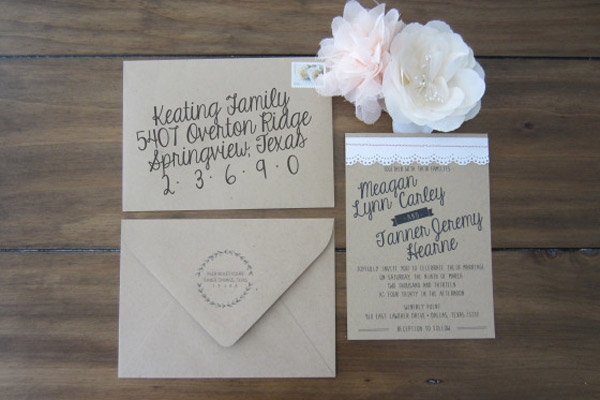 beautiful wedding invitations you can make yourself Dyi Wedding Invites