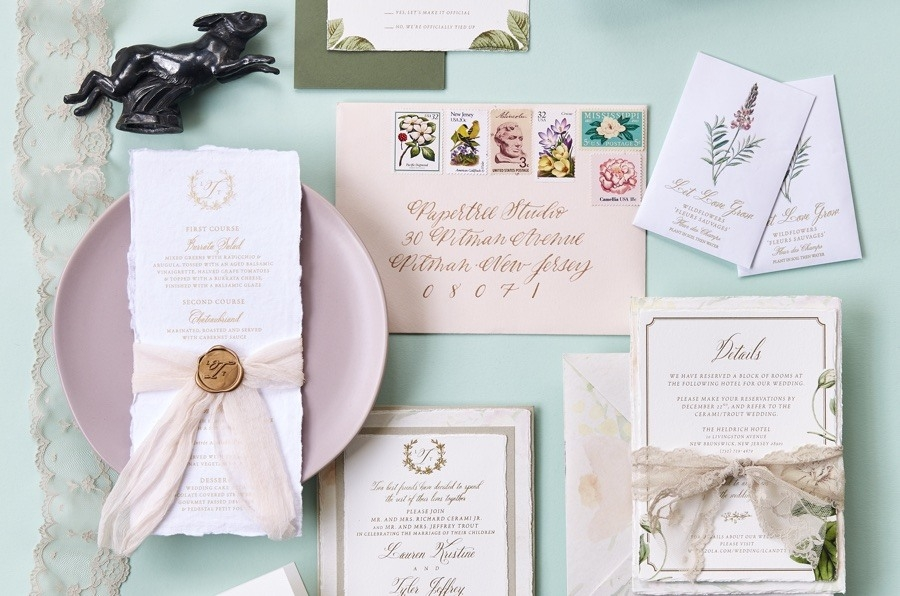 best philly wedding invitation designers and calligraphers His And Hers Wedding Invitations
