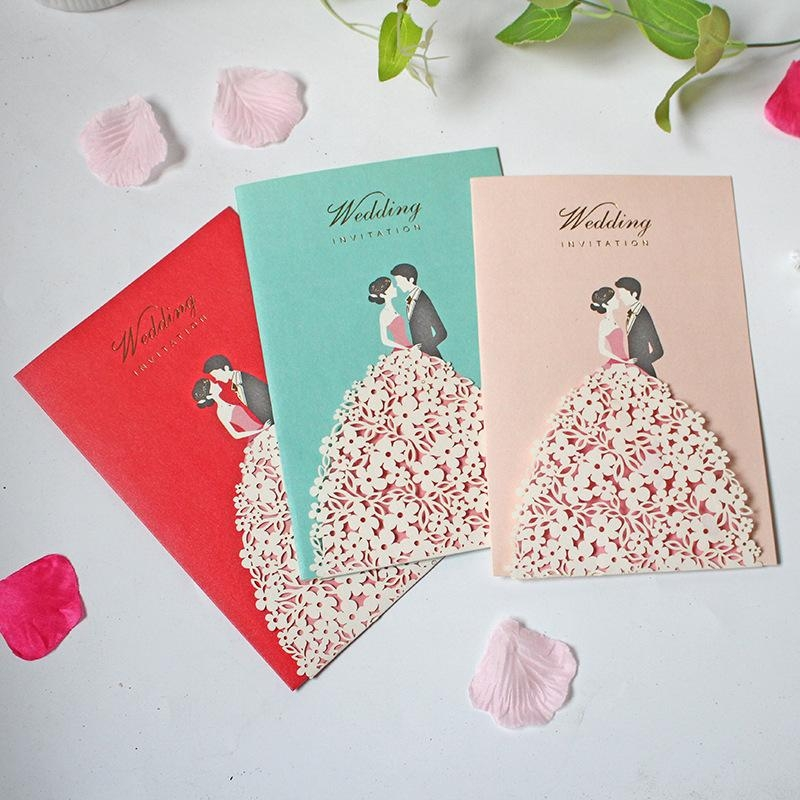 bride groom hollow creative wedding invitation card engagement party valentines day anniversary special day card wedding party online birthday card Creative Wedding Invitation