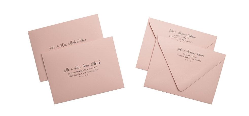 cards and pockets full guest address printed envelopes Printing Wedding Invitation Envelopes