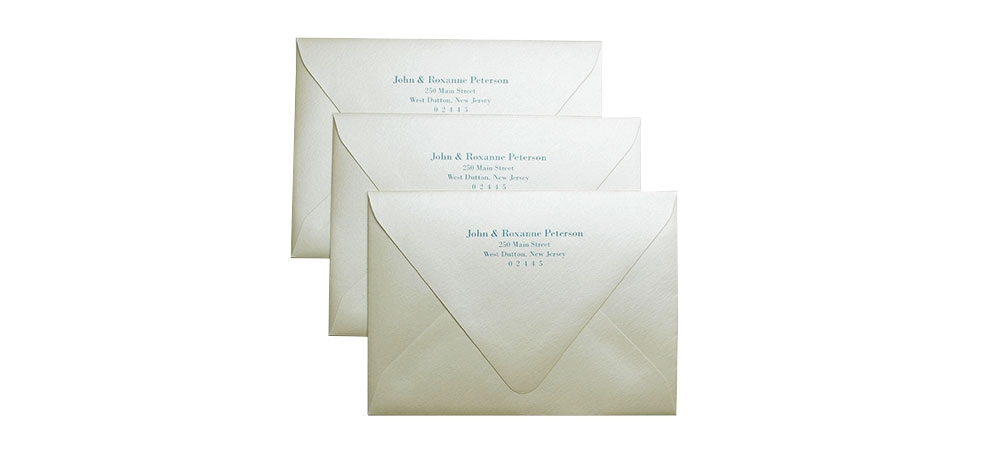 cards and pockets return address printed envelopes Printing Wedding Invitation Envelopes