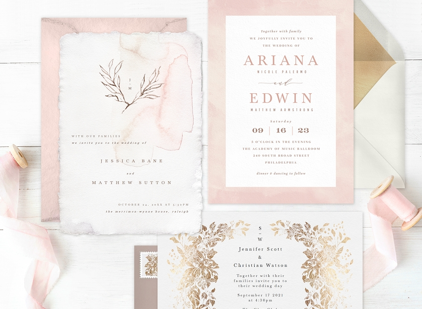 cheap and chic 8 affordable wedding invitations youll love Affordable Wedding Invitation