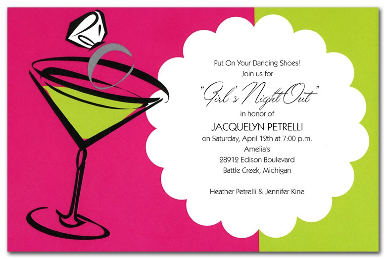cocktails and carats Cocktail Wedding Invitations