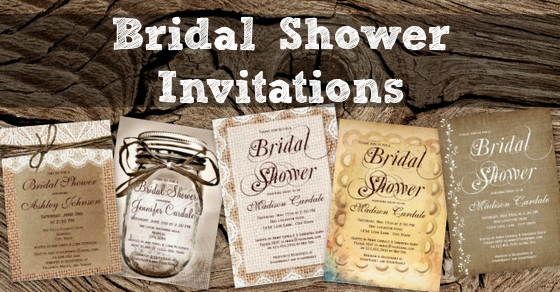 country bridal shower invitations rustic country wedding Wedding Bridal Shower Invitations