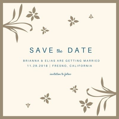 custom printable save the date invitation templates canva Save The Date Invites For Weddings